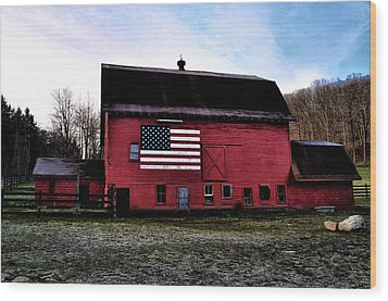 Proud To Be American Wood Print by Bill Cannon
