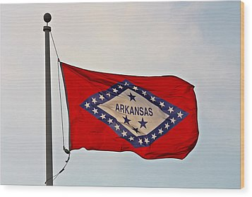Proud To Be An Arkansan- Fine Art Wood Print by KayeCee Spain