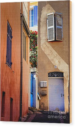 Wood Print featuring the photograph Provencal Passage  by Olivier Le Queinec