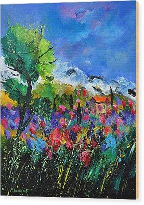 Provence 450170 Wood Print by Pol Ledent