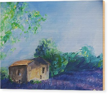 Provence House Wood Print by Eric  Schiabor