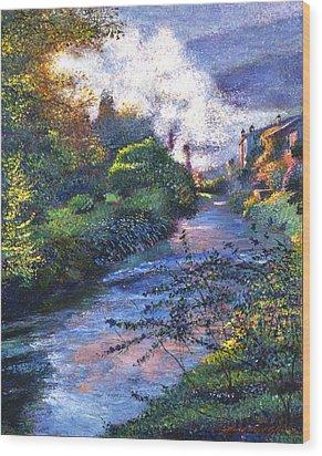 Provence River Wood Print by David Lloyd Glover