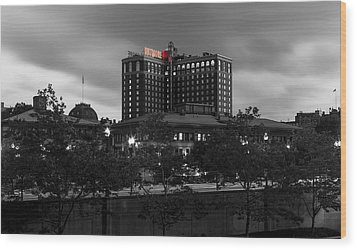 Wood Print featuring the photograph Providence Biltmore by Andrew Pacheco