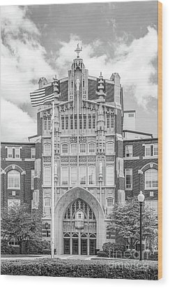 Providence College Harkins Hall Wood Print by University Icons