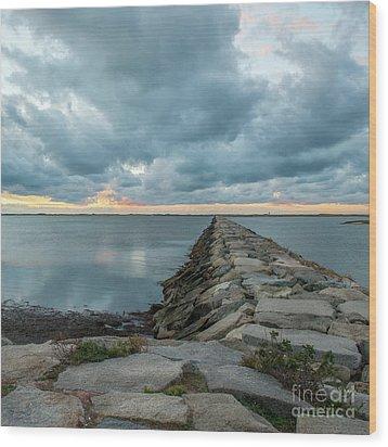 Provincetown Breakwater #3 Wood Print