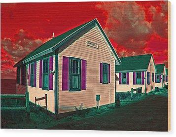 Provincetown Cottages Wood Print