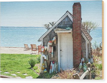 Provincetown Shed Wood Print