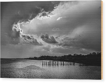 Wood Print featuring the photograph Provincetown Storm by Charles Harden