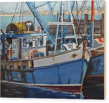 Provinctown Fishing Boats Wood Print by Michael McDougall