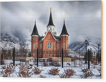 Provo City Center Temple Lds Large Canvas Art, Canvas Print, Large Art, Large Wall Decor, Home Decor Wood Print by David Millenheft