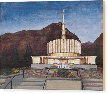 Provo Temple Wood Print
