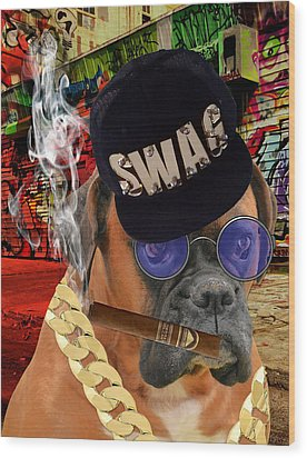 Wood Print featuring the mixed media Prowess by Marvin Blaine