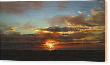 Prudhoe Bay Sunset Wood Print
