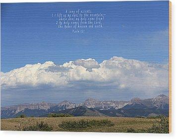 Psalm 121 Wood Print by Marta Alfred