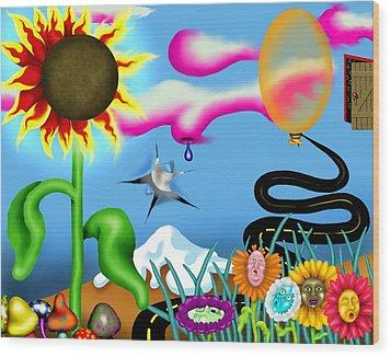 Psychedelic Dreamscape I Wood Print