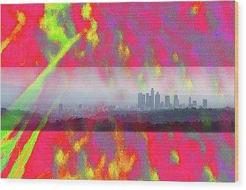 psychedelic energy of Los Angeles Wood Print by Viktor Savchenko