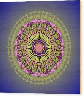 Psychedelic Mandala 001 A Wood Print