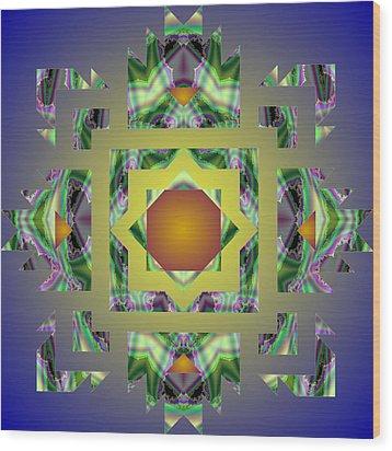 Psychedelic Mandala 002 A Wood Print