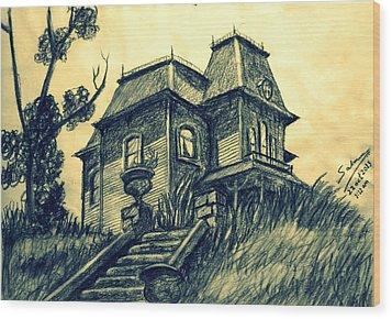 Psycho Wood Print by Salman Ravish