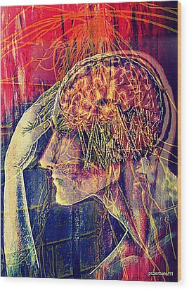Psychological Crutches Wood Print by Paulo Zerbato