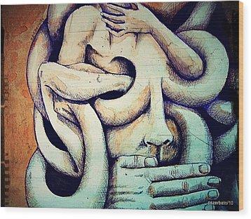 Psychological Phenomenon Wood Print by Paulo Zerbato