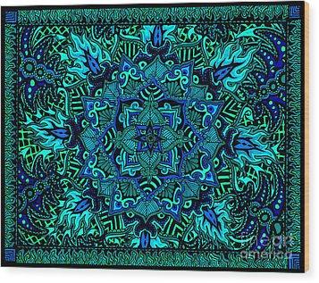 Psyformation Green Hue Wood Print