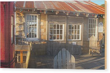 Wood Print featuring the photograph Pt. Reyes Boathouse by Dianne Levy