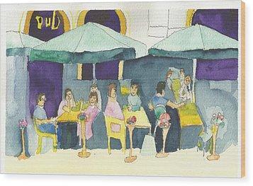 Pub In Harry Hjornes Plats Wood Print