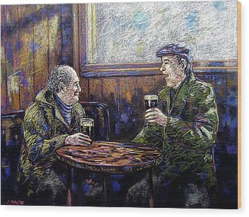 Pub Parlance Wood Print by John  Nolan