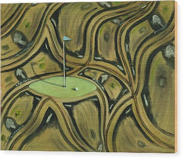 Wood Print featuring the painting Tax Payer Funded Golf Courses Art Print by Tommervik
