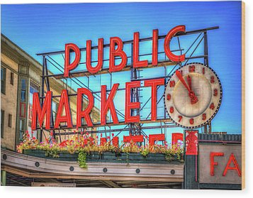 Wood Print featuring the photograph Public Market At Noon by Spencer McDonald