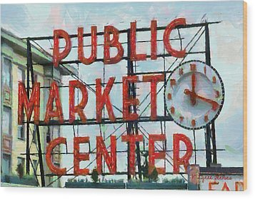 Public Market Center Wood Print