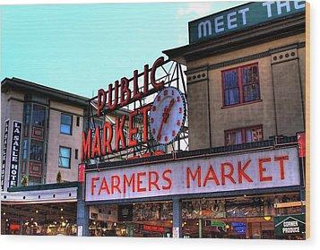 Public Market II Wood Print by David Patterson