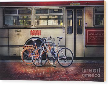 Public Tier Bicycles Wood Print