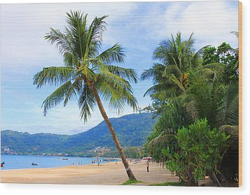 Phuket Patong Beach Wood Print by Mark Ashkenazi