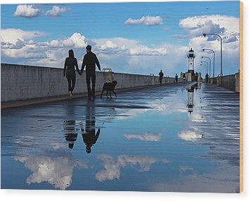 Wood Print featuring the photograph Puddle-licious by Mary Amerman