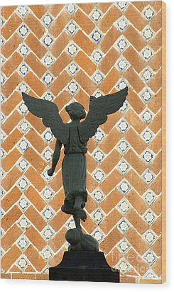 Wood Print featuring the photograph Puebla Angel Mexico by John  Mitchell