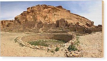 Wood Print featuring the photograph Pueblo Bonito Kiva Ruins by Adam Jewell