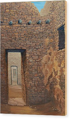 Pueblo Bonito Wood Print by Michael Cranford
