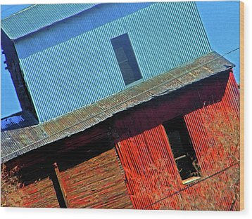 Pueblo Downtown--sweenys Feed Mill Wood Print by Lenore Senior