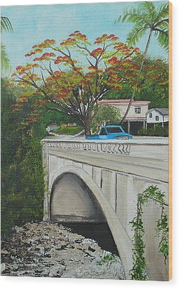 Puente En Adjuntas Wood Print by Gloria E Barreto-Rodriguez