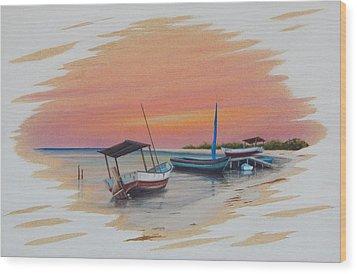 Puerto Progreso V Wood Print by Angel Ortiz