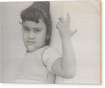 Puerto Rican-american Girl 1964 Wood Print