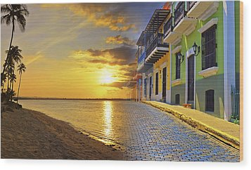 Puerto Rico Montage 1 Wood Print by Stephen Anderson
