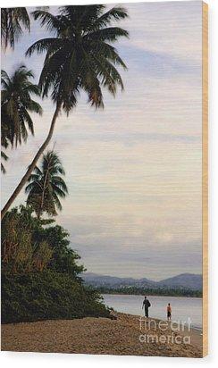 Puerto Rico Palms Wood Print by Madeline Ellis