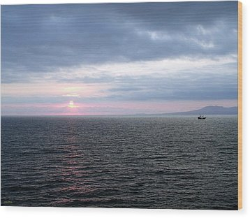 Puerto Vallarta Bay At Sunset Wood Print