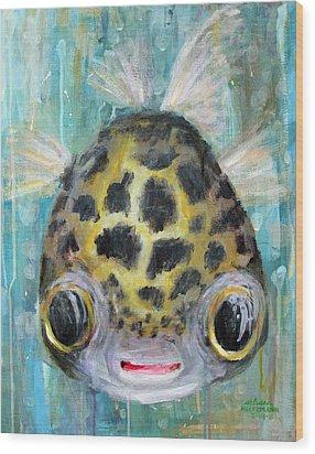 Puffy Underwater Wood Print by Arleana Holtzmann