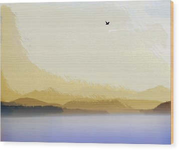 Puget Sound - Sunset Mist  Wood Print by Steve Ohlsen