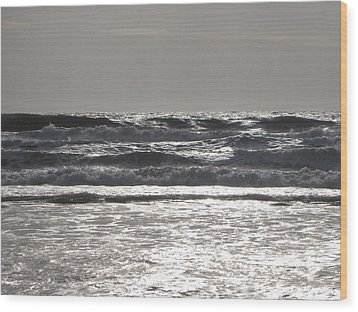 Wood Print featuring the photograph Puissance Oceane by Marc Philippe Joly