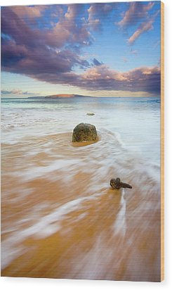 Pulled To The Sea Wood Print by Mike  Dawson